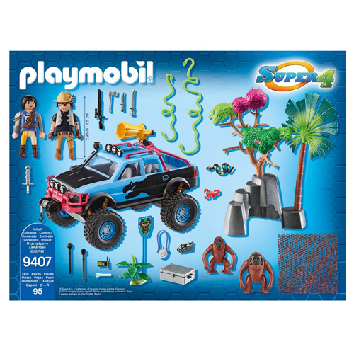Monster truck s Alexem a Rock Brock Playmobil Super 4, 95 dílků