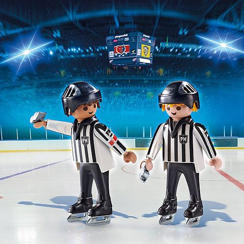Hokejoví rozhodčí Playmobil 2 panáčci s doplňky, 11 dílků
