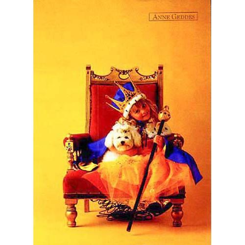 Blahopřání Anne Geddes královna na křesle
