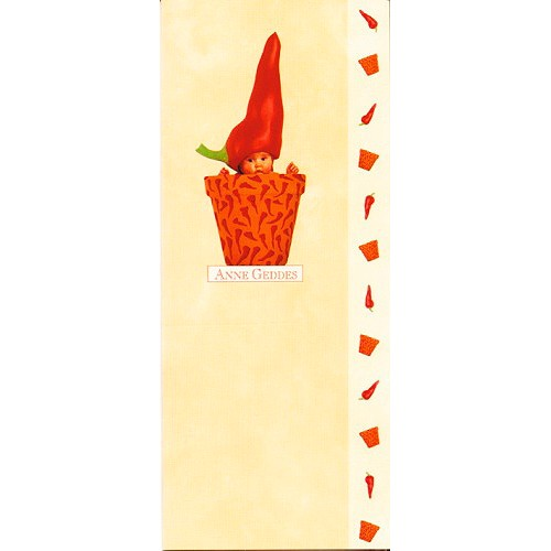 Blahopřání Anne Geddes květináč červený  paprika