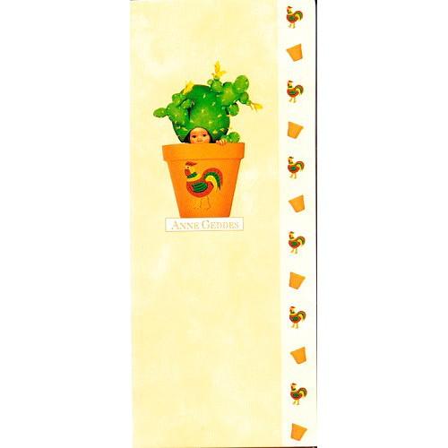 Blahopřání Anne Geddes květináč oranžový kohout