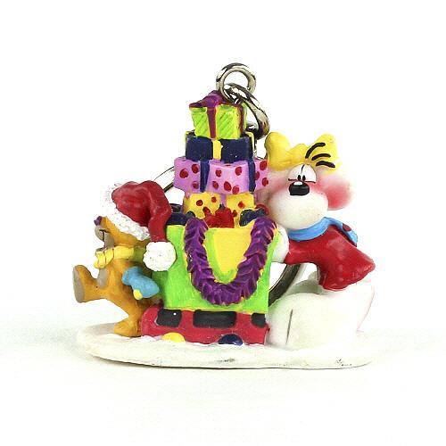 Diddl & Friends Klíčenka figurka Diddl a jeho přátelé Klíčenka PVC figurka, vánoce Diddl, 006