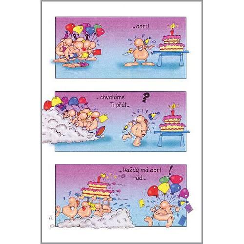 Blahopřání Naháči Oslava s dortem