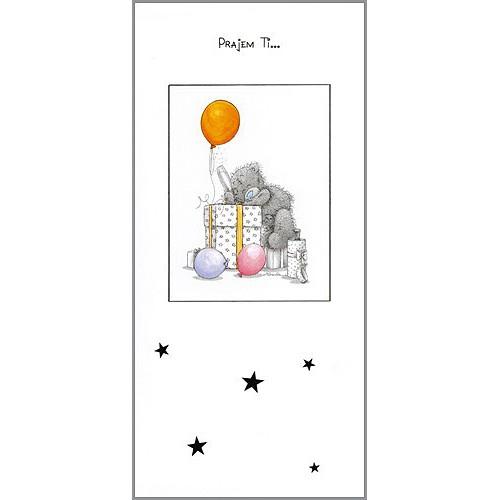 Blahopřání Me to You Přajem Ti … (na dárku se třemi balónky)