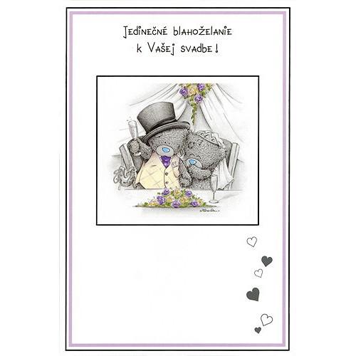 Blahopřání  Me to You Jedinečné blahoželanie k Vašej svadbe!