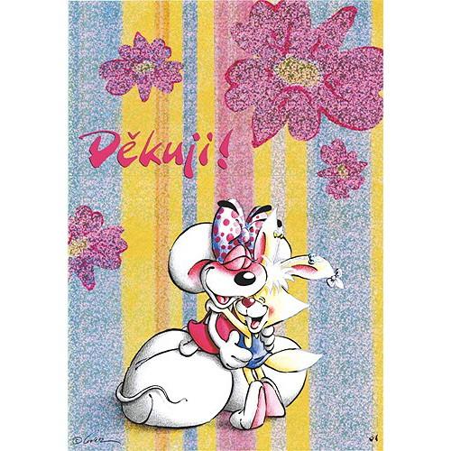 Diddl & Friends Blahopřání Diddl a jeho přátelé Děkuji!