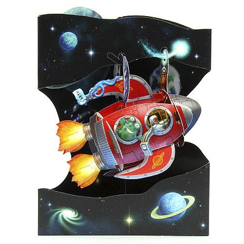 Blahopřání 3D Santoro Blahopřání 3D, raketa