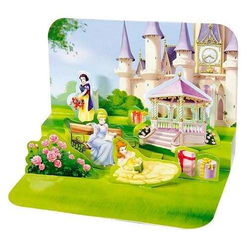 Blahopřání 3D Disney Princezna v zahradě