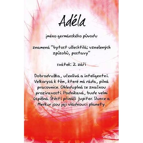 Blahopřání Kouzlo tvého jména Adéla
