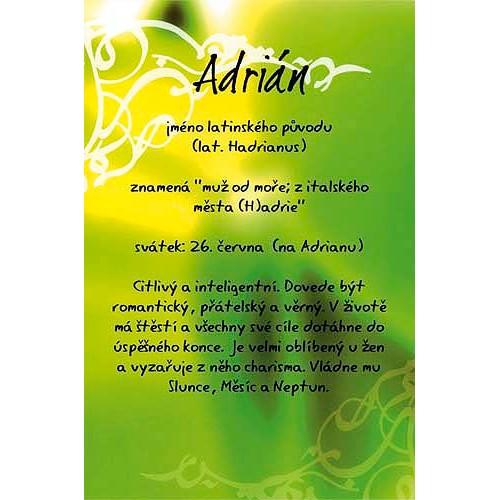 Blahopřání Kouzlo tvého jména Adrián