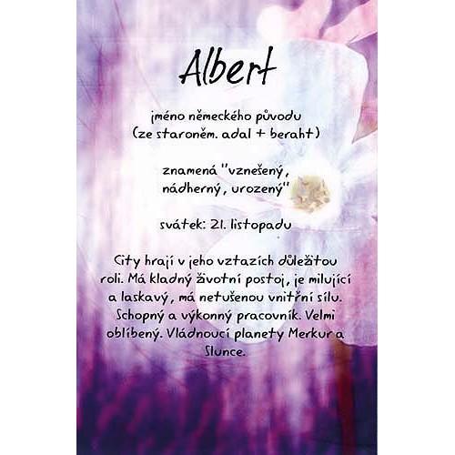 Blahopřání Kouzlo tvého jména Albert