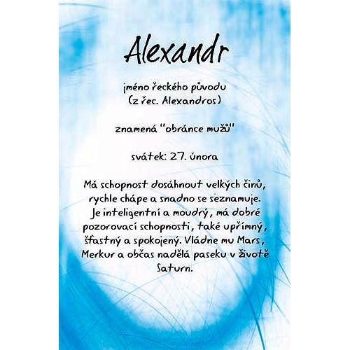 Blahopřání Kouzlo tvého jména Alexandr