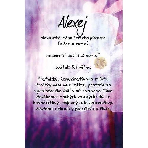 Blahopřání Kouzlo tvého jména Alexej