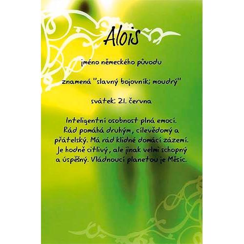Blahopřání Kouzlo tvého jména Alois