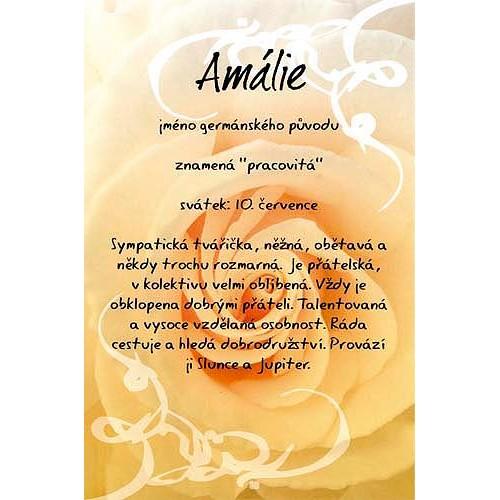 Blahopřání Kouzlo tvého jména Amálie