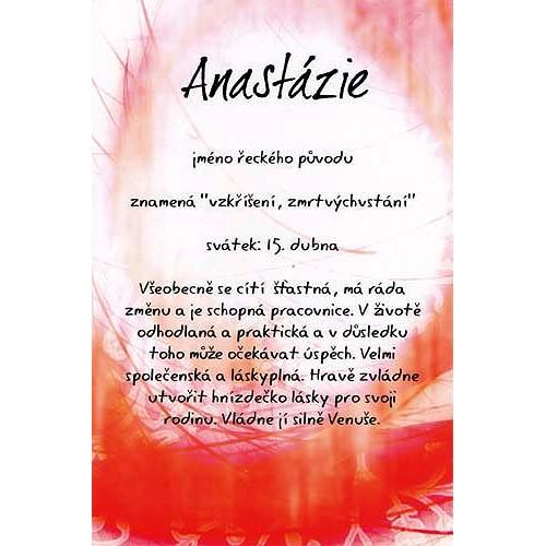 Blahopřání Kouzlo tvého jména Anastázie