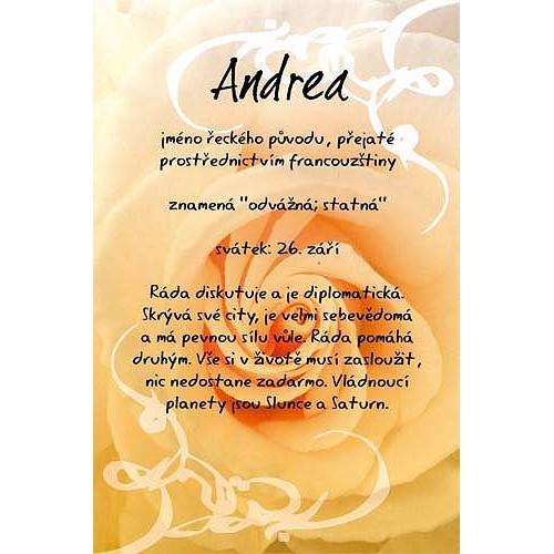 Blahopřání Kouzlo tvého jména Andrea