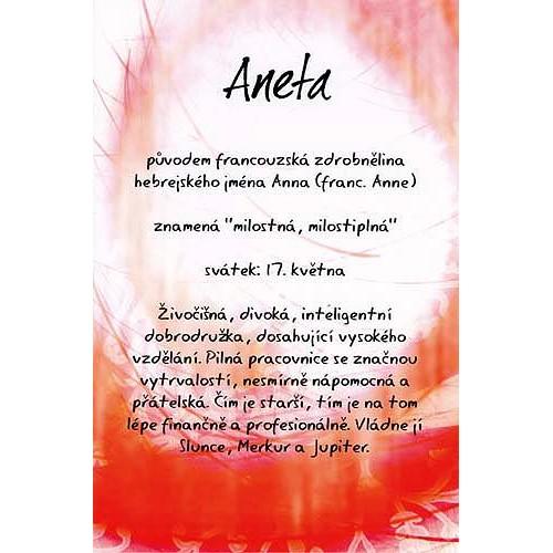 Blahopřání Kouzlo tvého jména Aneta