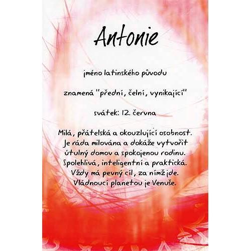 Blahopřání Kouzlo tvého jména Antonie