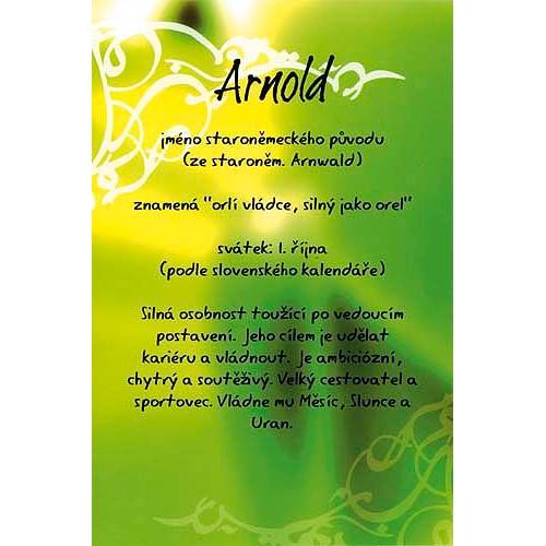 Blahopřání Kouzlo tvého jména Arnold