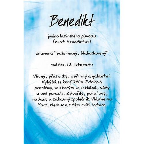 Blahopřání Kouzlo tvého jména Benedikt