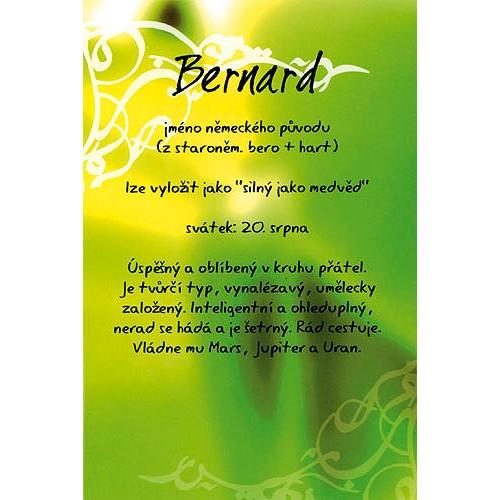 Blahopřání Kouzlo tvého jména Bernard