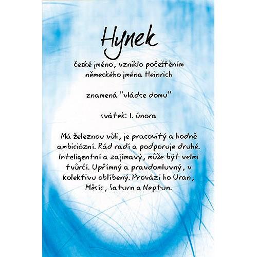 Blahopřání Kouzlo tvého jména Hynek
