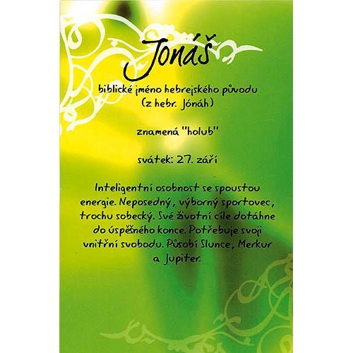 Blahopřání Kouzlo tvého jména Jonáš