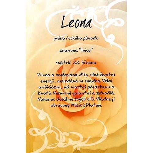 Blahopřání Kouzlo tvého jména Leona