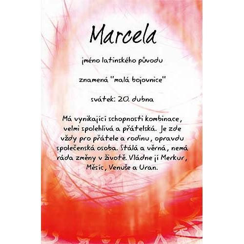 Blahopřání Kouzlo tvého jména Marcela