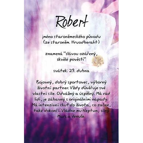 Blahopřání Kouzlo tvého jména Robert