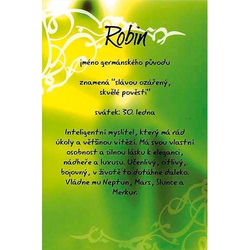 Blahopřání Kouzlo tvého jména Robin