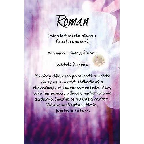 Blahopřání Kouzlo tvého jména Roman