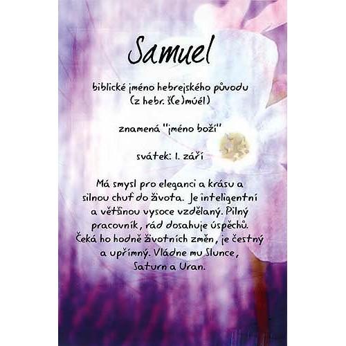 Blahopřání Kouzlo tvého jména Samuel
