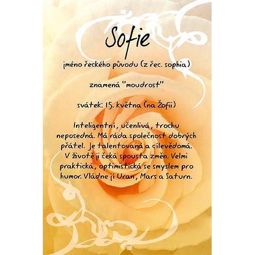 Blahopřání Kouzlo tvého jména Sofie