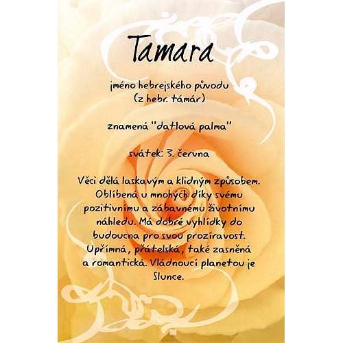 Blahopřání Kouzlo tvého jména Tamara
