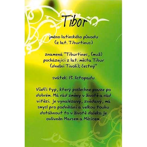 Blahopřání Kouzlo tvého jména Tibor