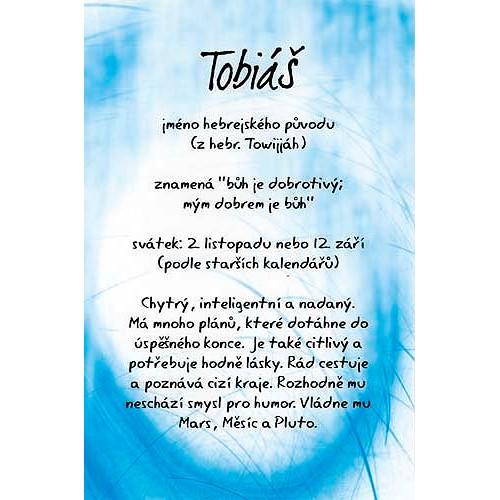 Blahopřání Kouzlo tvého jména Tobiáš