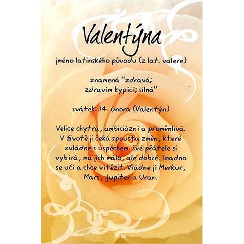Blahopřání Kouzlo tvého jména Valentýna