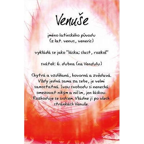 Blahopřání Kouzlo tvého jména Venuše