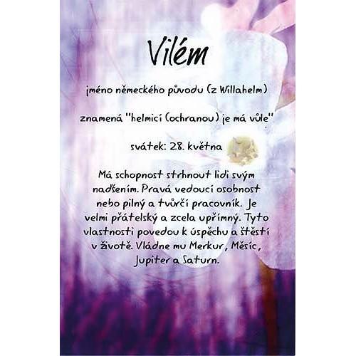 Blahopřání Kouzlo tvého jména Vilém