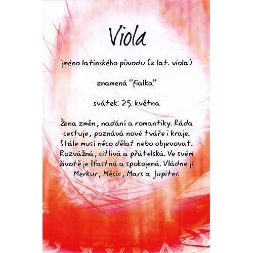 Blahopřání Kouzlo tvého jména Viola