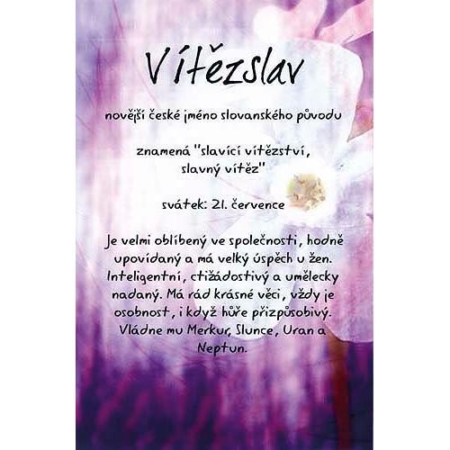 Blahopřání Kouzlo tvého jména Vítězslav