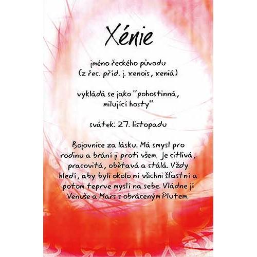 Blahopřání Kouzlo tvého jména Xénie