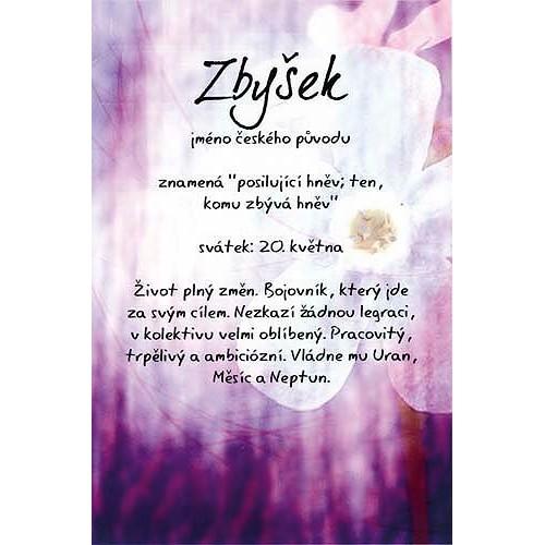 Blahopřání Kouzlo tvého jména Zbyšek