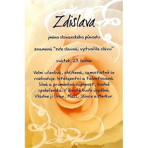 Blahopřání Kouzlo tvého jména Zdislava