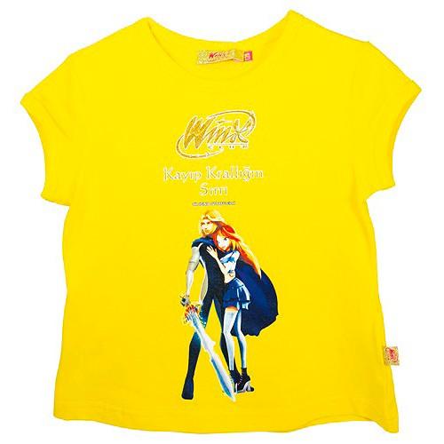 Tričko Winx Club Tričko krátký rukáv 104 žluté, WinX