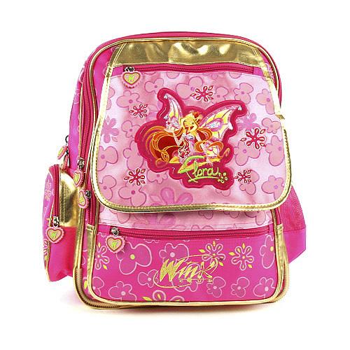 Školní batoh Winx Club #3 zipy s kapsou Gold Enchantix, WinX