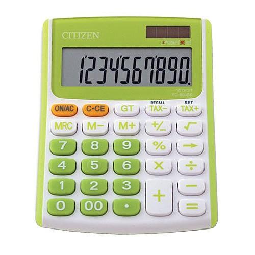 Kalkulačka Citizen Kalkulátor Citizen FC-600 zelená