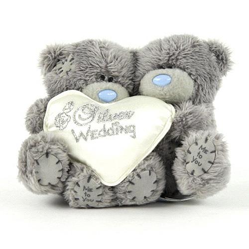 Medvídci Me to You Medvídek 10cm stříbrná svatba